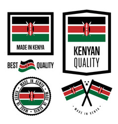 Kenya quality label set for goods vector