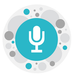 Of audio symbol on microphone vector