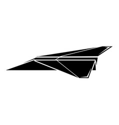 origami airplane icon simple black style vector image vector image