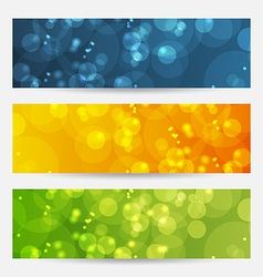 Set of abstract backgrounds with bokeh effect vector image