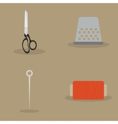 Sewing artesal objects vector