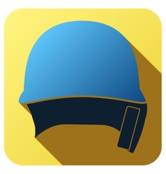 Sport icon with baseball helmet in flat style vector image
