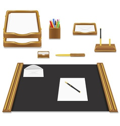 stationery office vector image vector image
