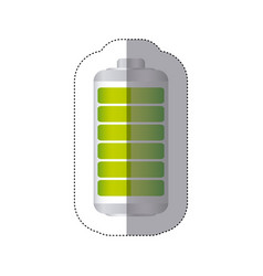 Sticker battery symbol with full charge vector