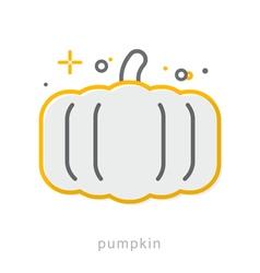 Thin line icons pumpkin vector