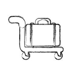 Travel bag symbol vector