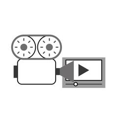 video camera with media player vector image vector image