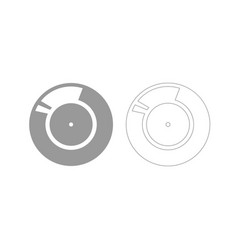 vinyl record retro sound carrier grey set icon vector image