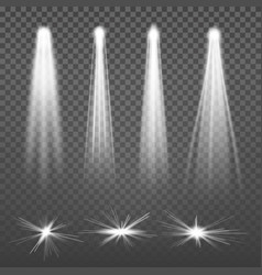 White beam lights spotlights glowing light vector