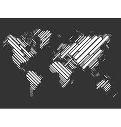 World map of white blocks vector
