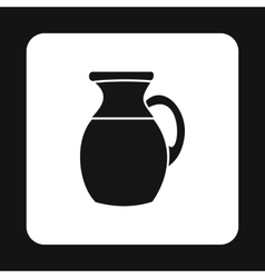 Pitcher icon in simple style vector