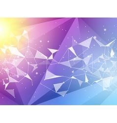 Abstract polygon geometric background and vector