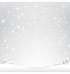 Star night and snow fall bakcground 003 vector image