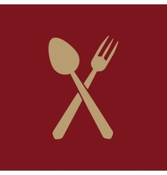 The spoon and fork icon vector