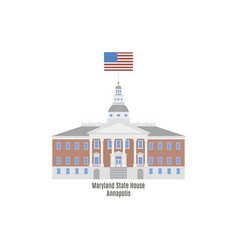 Maryland state house vector