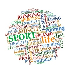 Sports tag cloud vector image