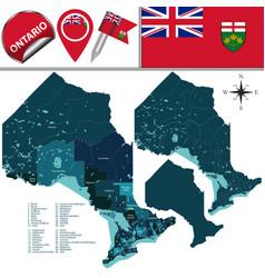 divisions of ontario canada vector image