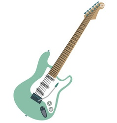 Electric stratocaster vector