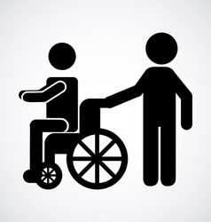 Wheelchair icon vector