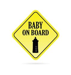 Baby on board traffic vector
