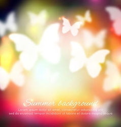 Abstract summer background with butterflies vector
