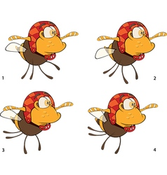 A set of bees toys cartoons for a game vector