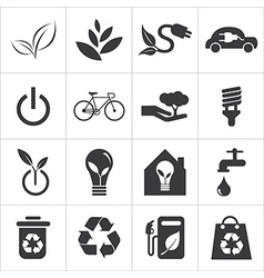 Save the world and clean energy icon vector