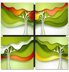 Summer tree vector image
