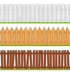 wooden fences vector image