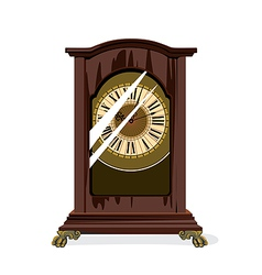 brown retro clocks and glass vector image