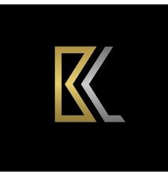 BL letters logo vector image