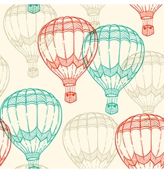 Seamless pattern with air balloons vector