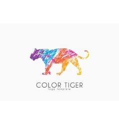 Tiger logo color tiger design creative logo vector