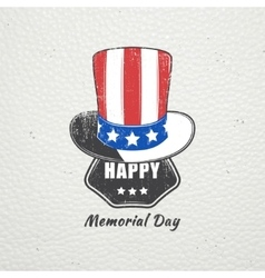 Happy memorial day set the celebration of vector