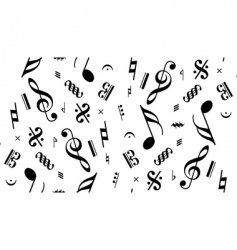 Music note seamless vector