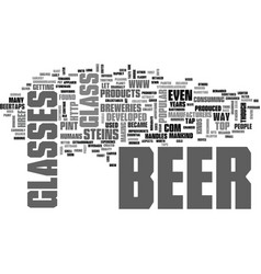 A look back at beer containers text word cloud vector
