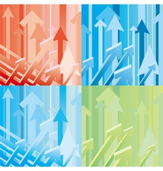 arrow background vector image