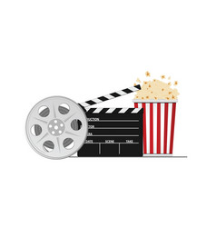 Cinema and movie stuff vector