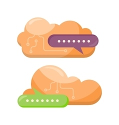 Cloud storage design flat concept saving info vector
