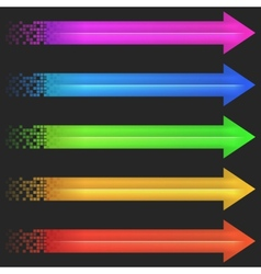 Color arrow pixel vector image vector image