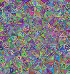 Colorful chaotic triangle mosaic background design vector image