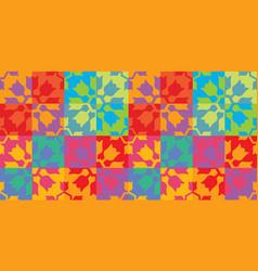 colorful vintage modern pattern design vector image
