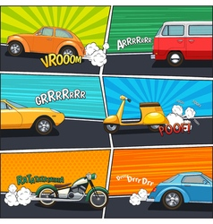 Comic Frames Transport vector image
