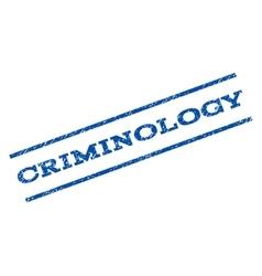 Criminology Watermark Stamp vector image vector image
