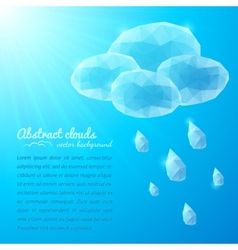 Crystal rainy cloud abstract background vector image vector image