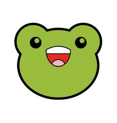 Cute toad face cartoon vector