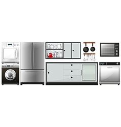 Different appliances use in household vector image vector image