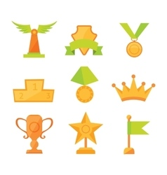 icons set of golden sport award cups in vector image vector image