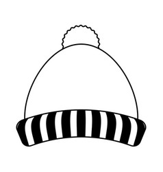 Knit winter hat icon image vector