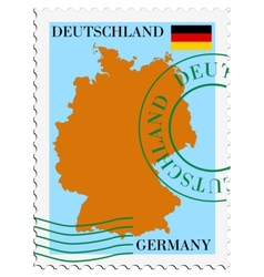 mail to-from Germany vector image vector image